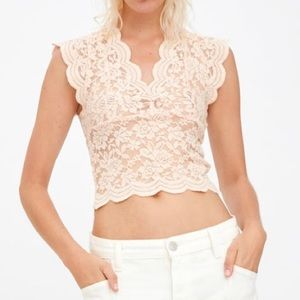Zara stretch lace top med